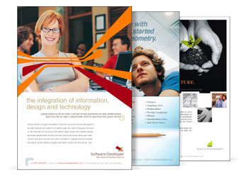 Custom printed sell sheets and information brochures