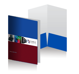 Custom printed product folders Metropolitan Digial