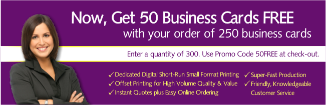 Get 50 Business Cards Free